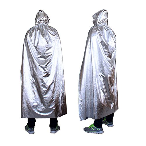 [Gobuy Unisex Halloween Hooded Robe Knight Full Length Wizard Cape Festival Accessory] (Homemade Childrens Alien Costume)