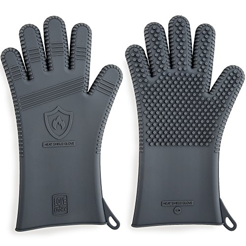 """Premium Silicone BBQ Gloves & Grill Gloves in Attractive Gift Box 