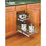 """Rev-A-Shelf 2-Tier Pull-Out Cabinet Organizer-2-TIER 12"""" CHRM BASKET"""