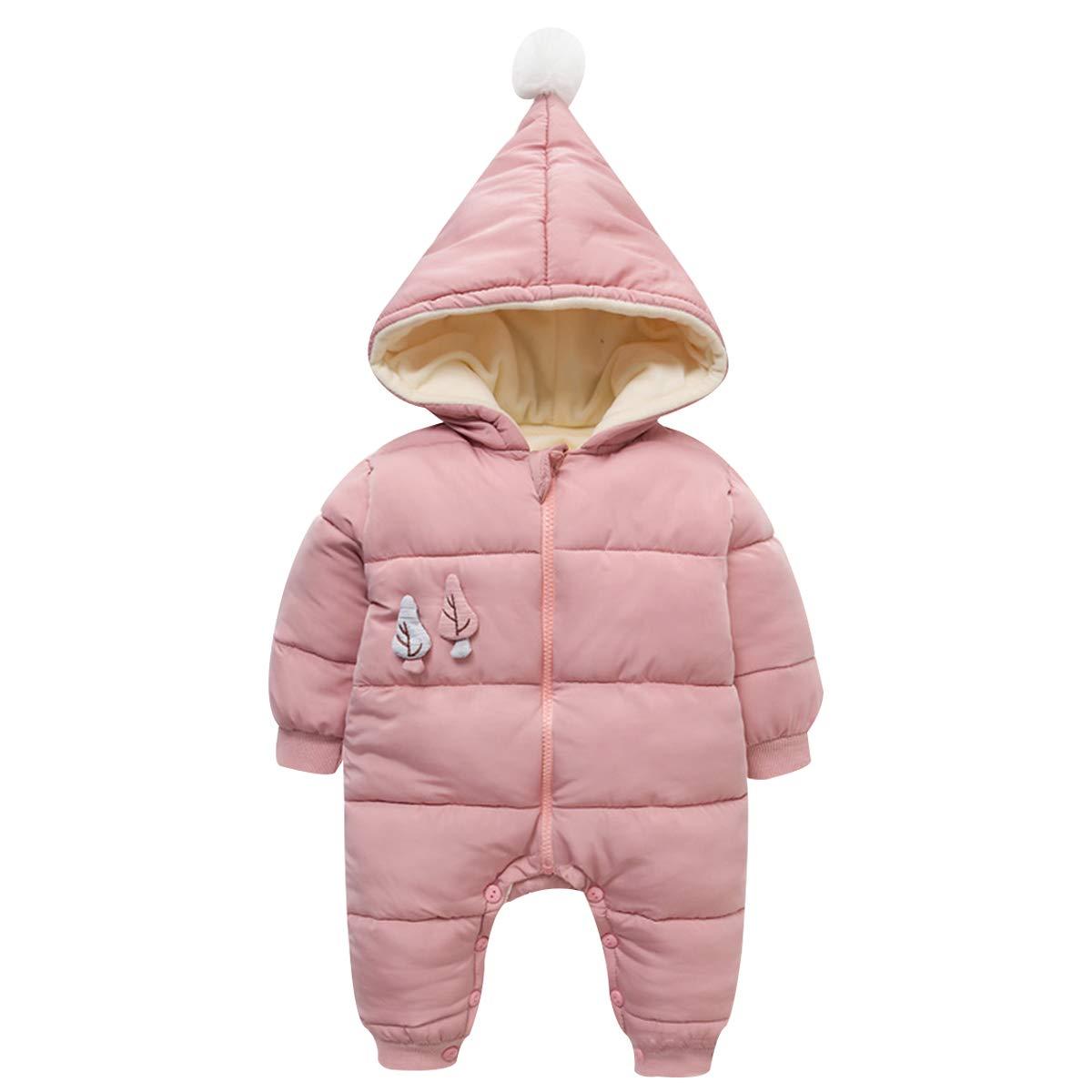 famuka Baby Winter Strampler Jungen M/ädchen Schneeanzug Neugeborenen Overall