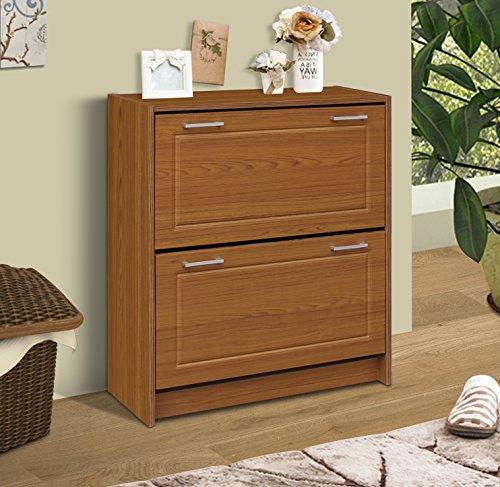4D Concepts Deluxe Double Shoe Cabinet, Oak by 4D Concepts