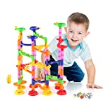 YOHOOLYO Marble Run Toy Set 105pcs Marble Race Game Building Toys Construction Game for Kids and Toddlers