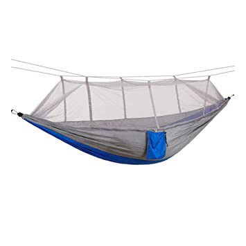 Amazon Com Rojeam Double Camping Hammock With Mosquito Net