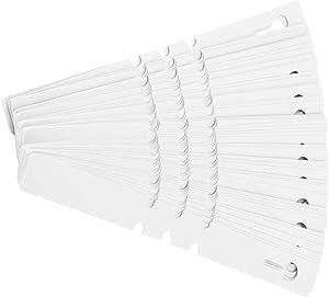 TOPINCN 100pcs Nursery Plant Tags Plastic Plant Tree Markers Wrap Around Hanging Nursery Garden Decor Reusable Labels Lawn Ornament 21 x 2cm(White)