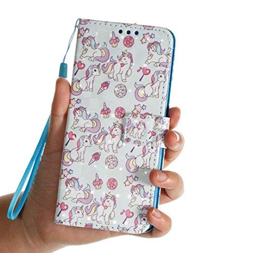 Samsung Galaxy S9Plus móvil, cowx Teléfono Móvil Piel Flip Case Carcasa para Samsung Galaxy S9Plus Funda Silicona Cover (s9p28)