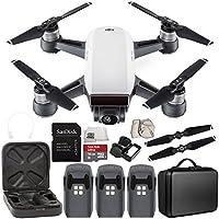 DJI Spark Portable Mini Drone Quadcopter Ultimate Portable Bag Shoulder Travel Case Bundle (Alpine White)
