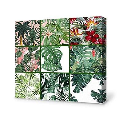 Tropical Rainforest Plant Painting Wall Poster Decor for Living Room Wooden Framed, Classic Artwork, Elegant Creative Design