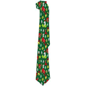 Corbata para hombre Patrón lindo de Navidad de Año Nuevo con Lamas ...