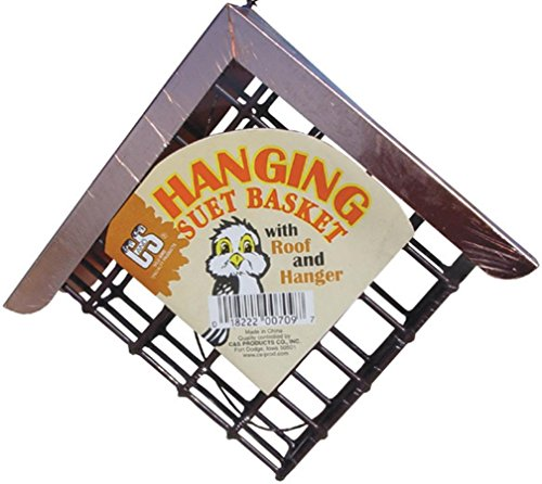 C&S Hanging Suet Basket w/ roof