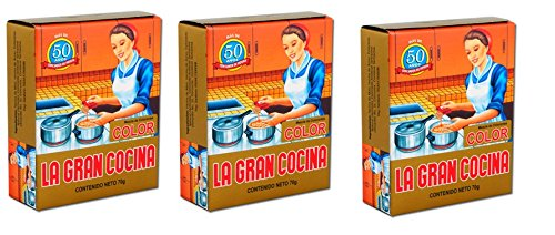 LA GRAN COCINA Color 70 gr. - 3 Pack/Food Coloring 2.4 oz. - 3 Pack