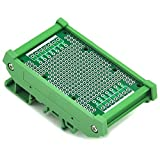 Electronics-Salon DIN Rail Mounting Carrier Housing with Prototype Board, PCB Size 47.4 x 72mm