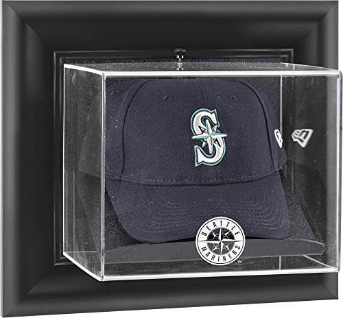 (Mounted Memories Seattle Mariners Framed Wall Mounted Logo Cap Display Case)