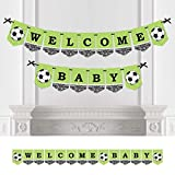 Big Dot of Happiness GOAAAL! - Soccer - Baby Shower Bunting Banner - Sports Party Decorations - Welcome Baby