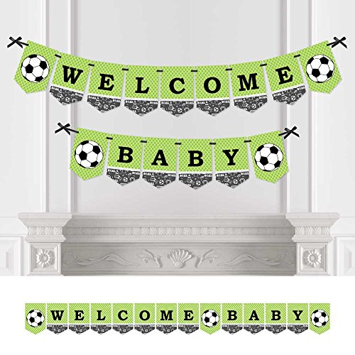 Big Dot of Happiness GOAAAL! - Soccer - Baby Shower Bunting Banner - Sports Party Decorations - Welcome Baby -