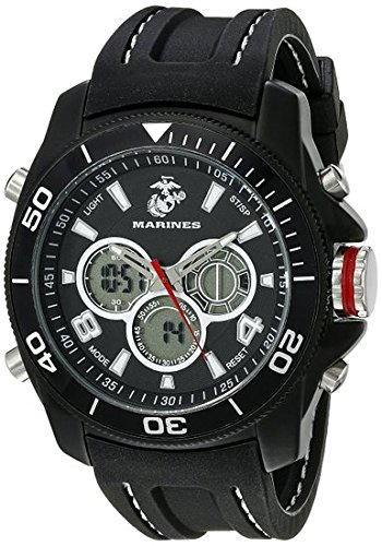 Wrist Armor Men's 37100014 U. S. Ocean-going Corps Black Watch with Rubber Band