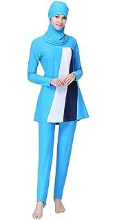 c33c406132fdd Ababalaya Womens  UPF 50+ Full Cover Islamic Swimsuits Muslim Swimwear
