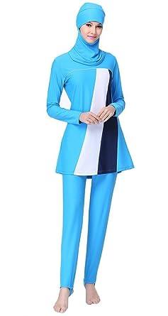 c360ae128d1 Ababalaya Womens' UPF 50+ Full Cover Islamic Swimsuits Muslim Swimwear