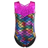 Kyпить HUANQIUE Girls Kids Swimming Gymnastic Unitard Swimsuit Sleeveless One Piece Scale Colorful 5-6 Years на Amazon.com