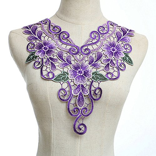 Bouquet Wedding Dress Collar Venice Lace Collar Embroidery Lace DIY (Color A)