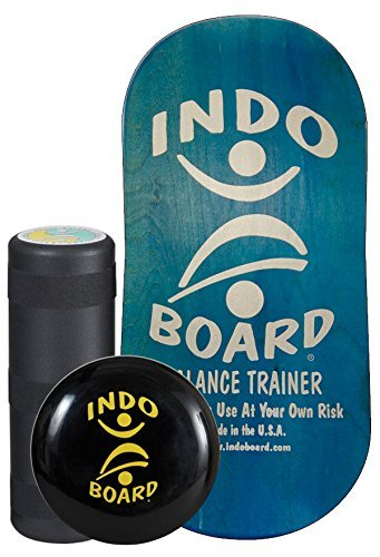 INDO BOARD Rocker Balance Board Package Ages, Improve Balance, Comes with 33'' X 15'' Non-Slip Deck 6.5'' Roller and 14'' Cushion - Aqua Blue by INDO BOARD (Image #8)