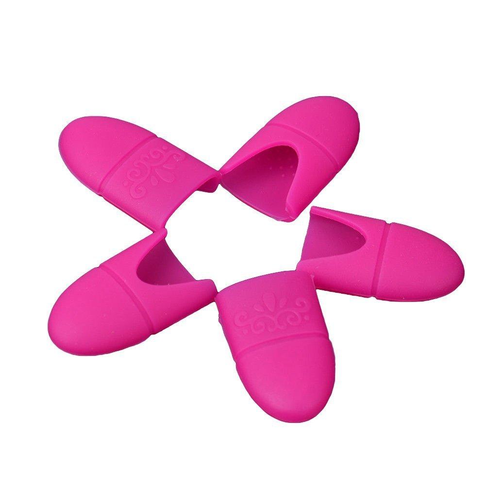 DAEDALUS - Cappucci in silicone per la rimozione di gel unghie, confezione da 10