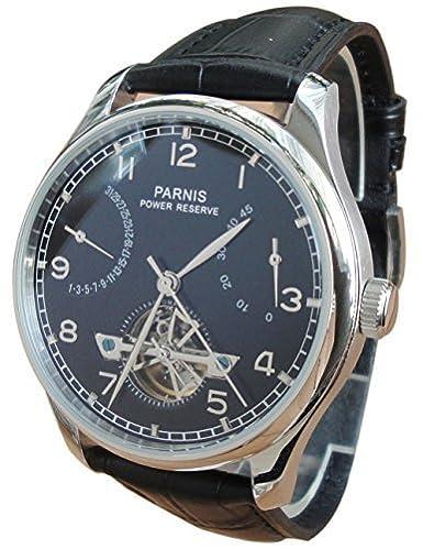 PARNIS Reloj Automático para hombres Volante Energía pantalla de gaviota st2505 movimiento: Amazon.es: Relojes