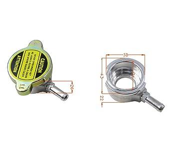 alloyworks soldadura de llenado del radiador Billet Aluminio + 1 x libre tapón del radiador: Amazon.es: Coche y moto