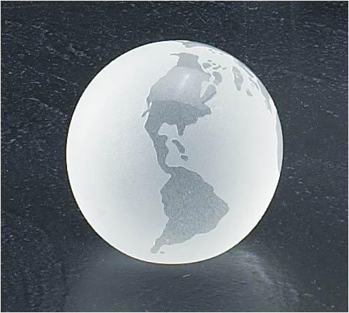 Crystal Paperweight 3-Inch Diameter Desk Globe