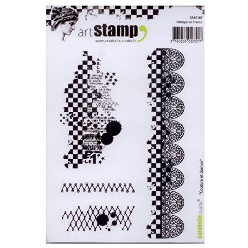 Carabelle Studio A6 Unmounted Stamp Set - Stitches and Checkers Acrylic Unmounted Stamp Set