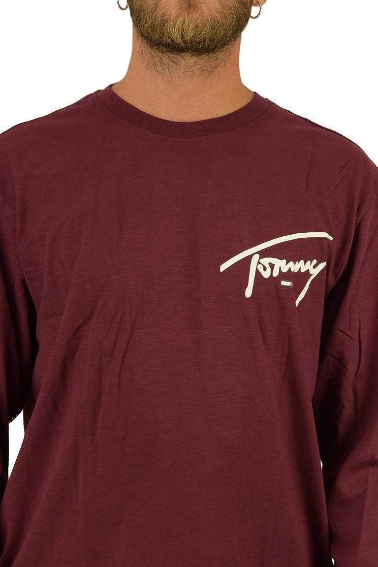 Tommy Jeans Mens TJM Sleeve Logo Tee Sports Shirt