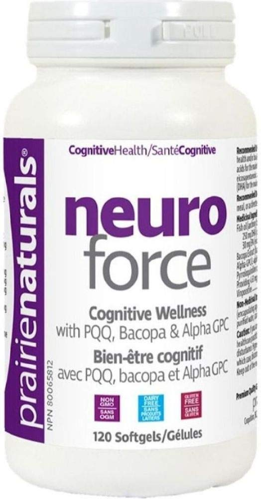 Prairie Naturals Neuro Force with PQQ/Bacopa and Alpha GPC Softgels, 120 Count