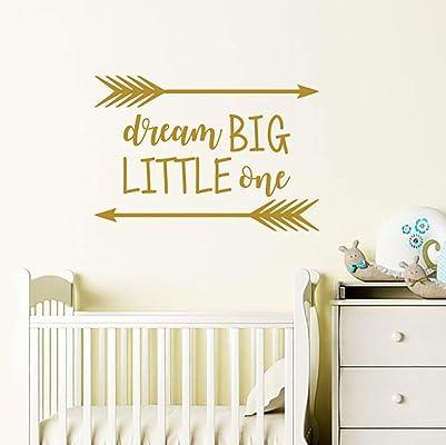 Dream Big Little One Wall Decal/Nursery Quote Decals/Wall Sticker Nursery Vinyl/Wall Decor/Rustic Nursery Decor/Arrow Decal F3