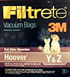 3m filtrete hoover - 9 Filtrete 3m Hoover Type Y & Z Bags