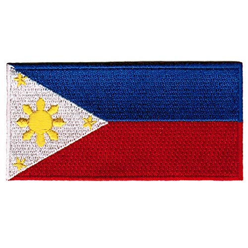 (Philippines Flag Embroidered Patch Filipino Pinoy Iron-On National Emblem)