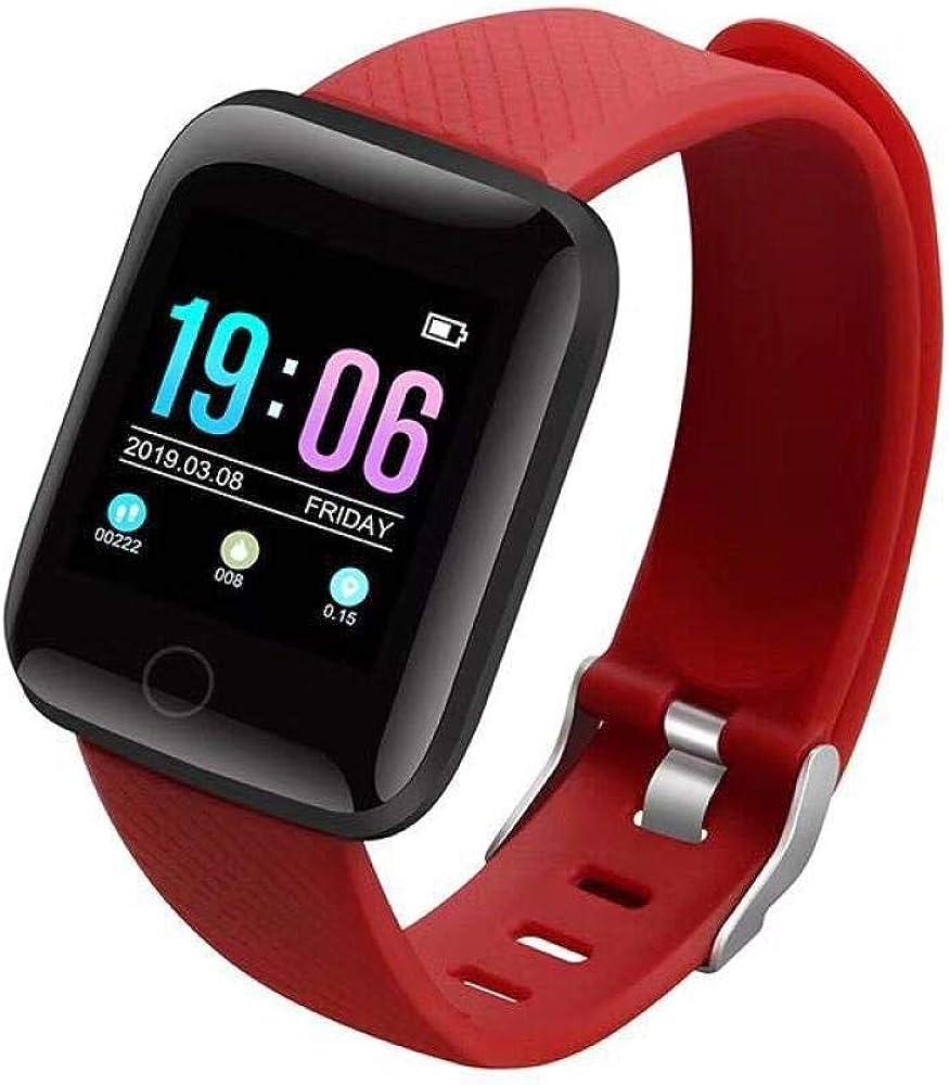 1.3 Pulgadas Reloj Inteligente Fitness Tracker Waterproof Monitoreo De Frecuencia Cardíaca Recordatorio De Mensajes Deportes Moda Contador De Pasos GPS Unisex Adulto para iPhone iOS Android