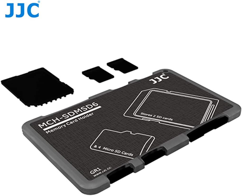 Micro SD Memory Card Case Micro SD Card Holder Case fits 10 Micro SD Cards JJC MCH-MSD10CN Small Wallet Memory Card Case Credit Card Size Slim Light Weight