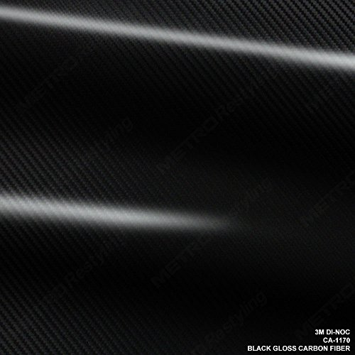 - 3M CA-1170 DI-NOC GLOSS BLACK CARBON FIBER 4ft x 5ft (20 Sq/ft) Flex Vinyl Wrap Film
