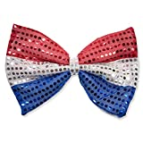 4th of July American Flag Theme Patriotic Kids Party Favor Supplies Shutter Shade Sunglasses Giant Bow Tie Award Ribbon Pin Uncle Sam Hat Headband & Horn USA Dress up Decor Accessory 5 Piece Bulk Pack