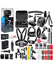 $354 » GoPro HERO7 Black - Waterproof Action Camera with Touch Screen, 4K HD Video, 12MP Photos, Live Streaming and Stabilization - with 64GB Micro Sd Card and 50 Piece Accessory Kit - Fully Loaded Bundle