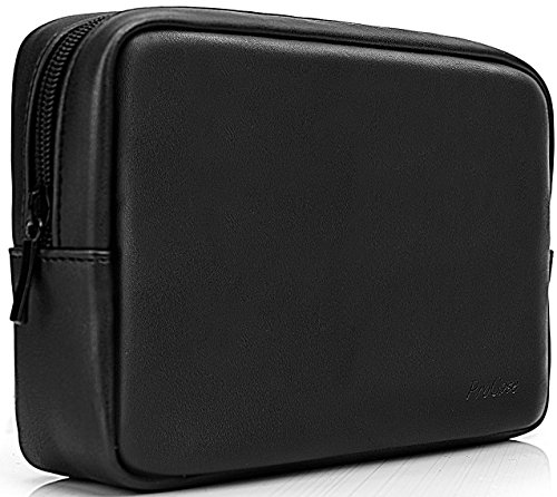 ProCase Accessories Bag Organizer Power Bank Case, Electronics Accessory Travel Gear Organize Case, Cable Management Hard Drive Bag -Black ()