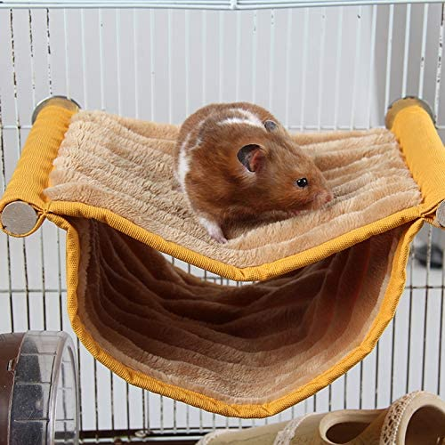 Wontee Hamster Plush Hammock Bird Hanging Bed Nest for Rat Squirrel Chinchilla Gerbil Guinea Pig Small Parrot Budgie Parakeet Lovebird Canary