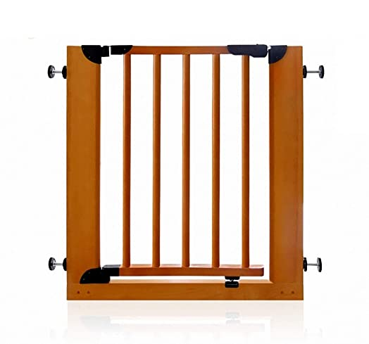 Solid Wood Baby Safety Gate Pressure Mounted for Stair Doorway Hallway, Auto Close Baby Pet Isolated Gate, Fits Space 73-85cm, No Safety Hazard
