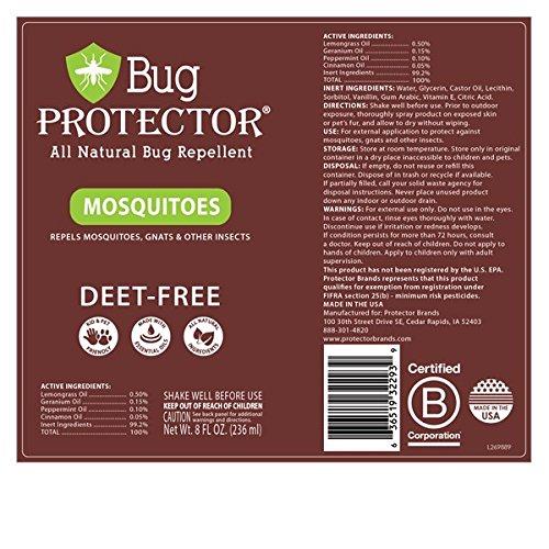 Bug pantalla todos naturales Mosquito mosquito y repelente de insectos spray DEET libre: Amazon.es: Jardín