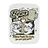 Truly Teague Baby Burp Cloth Beer: Helping People Get Lucky