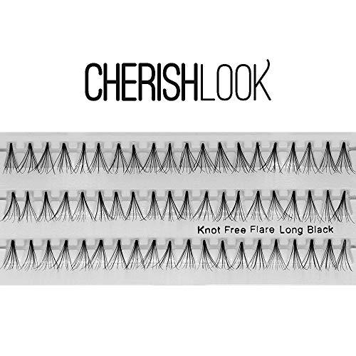 Cherishlook Professional 10packs Eyelashes - (Knot Free) Flare Long Black