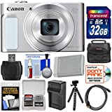 Canon PowerShot SX620 HS Wi-Fi Digital Camera (Silver) with 32GB Card + Case + Battery + Charger + Flex Tripod + HDMI Cable + Kit