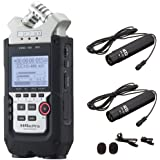 Zoom H4n PRO 4-Channel Handy Recorder Bundle with MXL FR-355K Lavalier Interview Microphone Kit