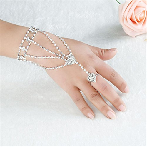 Lsinyan Bridal jewelry popular Fashion gift The Great Gatsby Pearl Bridal Bracelet with bangle Set (Great Gatsby Dresses)