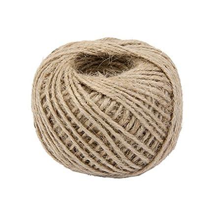 Cuerda de cáñamo de 50m para manualidades, de la marca Zeuxs, beige
