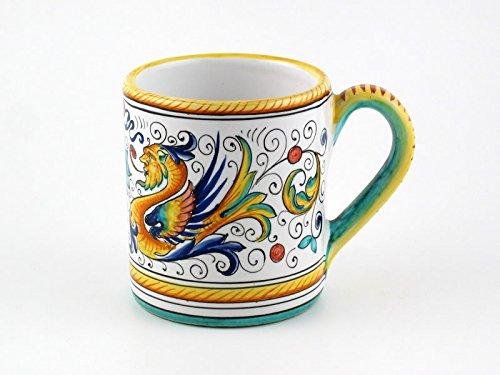 Hand Painted Italian Ceramic Mug Raffaellesco - Handmade in Deruta (Hand Painted Pottery)